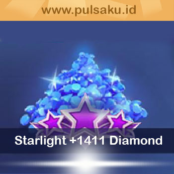 Topup Games Diamond Mobile Legend Pro - Starlight Member + 1.411 Diamond