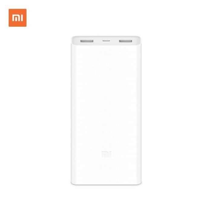Online Shop ELEKTRONIK - Xiaomi - Mi PowerBank 2C 20.000 mAh - Putih