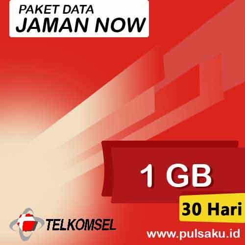 Paket Internet Telkomsel - Jaman Now 1GB 30 Hari