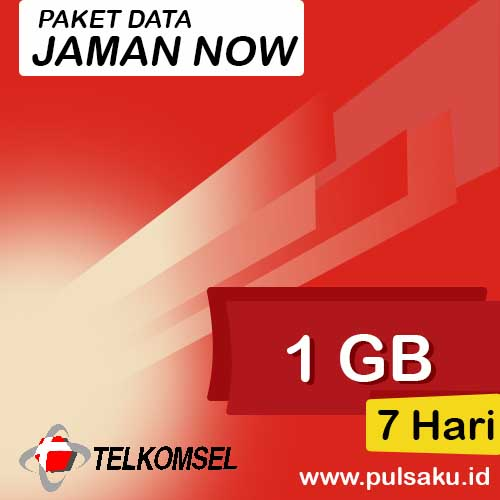 Paket Internet Telkomsel - Jaman Now 1GB