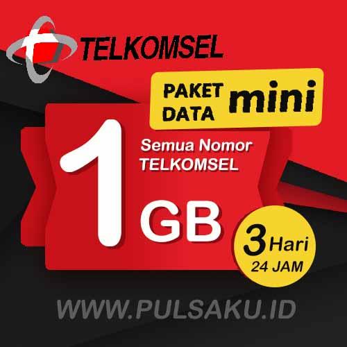 Paket Internet Telkomsel - Paket Data Mini 1GB, 3 Hari