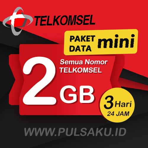 Paket Internet Telkomsel - Paket Data Mini 2GB, 3 Hari
