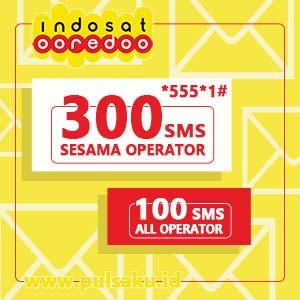 Paket SMS INDOSAT - SMS 300 SESAMA & 100 KE SEMUA
