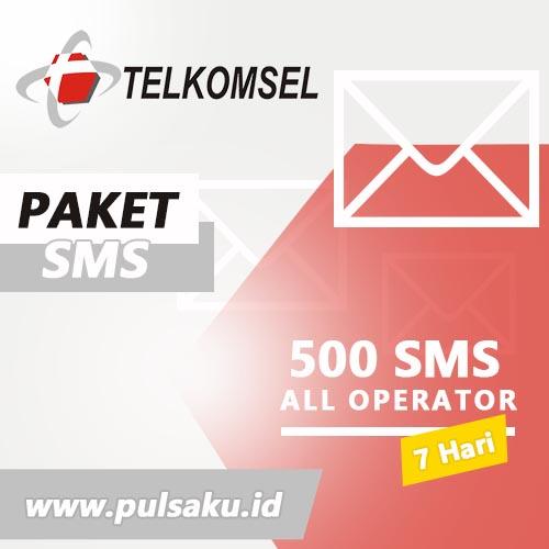 Paket SMS TELKOMSEL - All Operator 500 SMS 7Hr