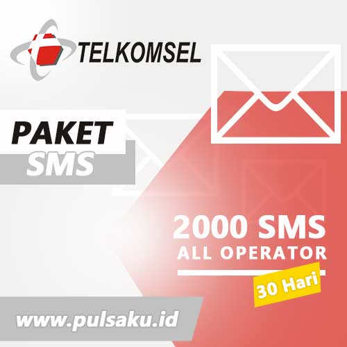 Paket SMS TELKOMSEL - All Operator 2000 SMS 30Hr