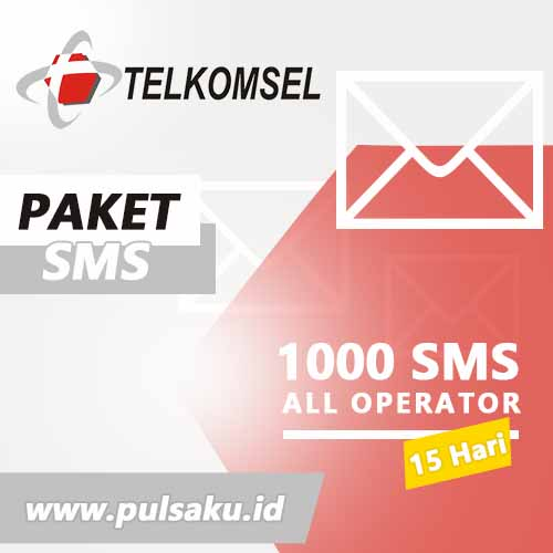 Paket SMS TELKOMSEL - All Operator 1000 SMS 15Hr