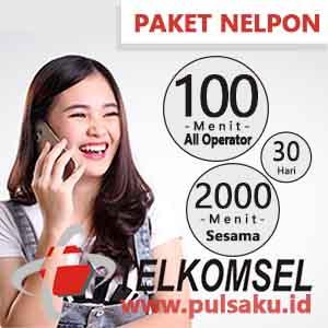 Paket Telpon Telkomsel - BAYAR 2100 Menit 30 Hari