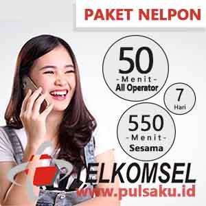 Paket Telpon Telkomsel - BAYAR 600 Menit 7 Hari