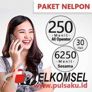 Paket Telpon Telkomsel - BAYAR 6500 Menit 30 Hari