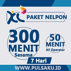 Paket Telpon XL - 300 Menit + 50 Menit AllOpr, 7hari
