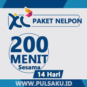 Paket Telpon XL - 200 Menit Sesama XL, 14hari