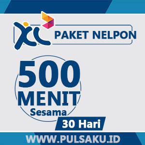 Paket Telpon XL - 500 Menit Sesama XL, 30hari