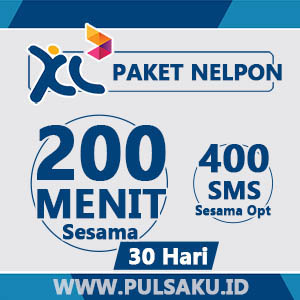 Paket Telpon XL - 200 Menit + 400 SMS Sesama XL 30hari