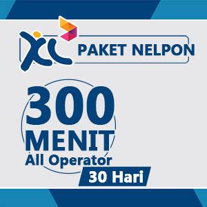 Paket Telpon XL - 300 Menit AllOpr, 30Hr