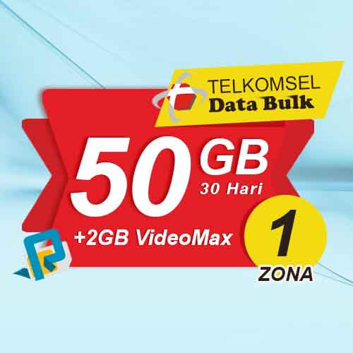 Telkomsel Bulk TSel Zona 1 - 50GB All+2GB VideoMax 30 Hari