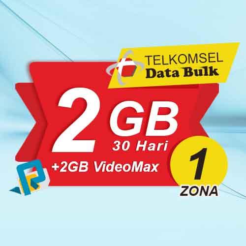 Telkomsel Bulk TSel Zona 1 - 2GB All+2GB VideoMax 30 Hari