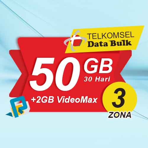 Telkomsel Bulk TSel Zona 3 - 50GB All+2GB VideoMax 30 Hari