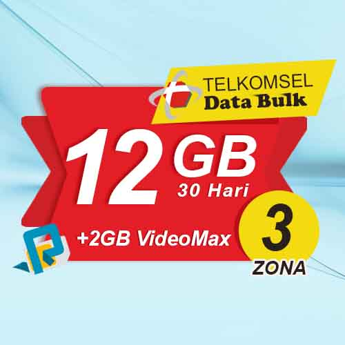 Telkomsel Bulk TSel Zona 3 - 12GB All+2GB VideoMax 30 Hari