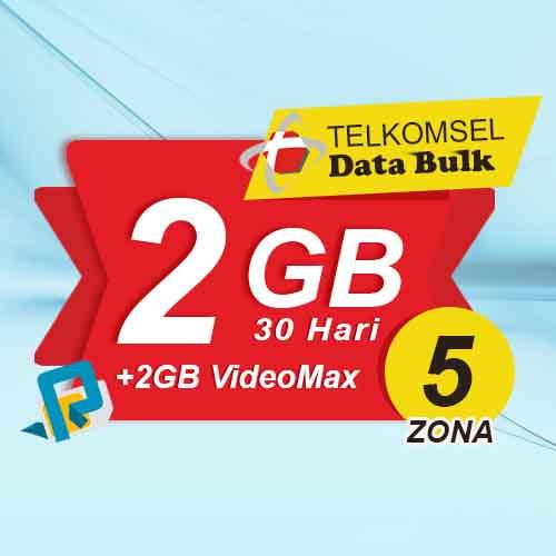 Telkomsel Bulk TSel Zona 5 - 2GB All+2GB VideoMax 30 Hari