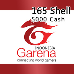 Voucher Game GAME GARENA INDONESIA - 165 Shell / 5000 Cash