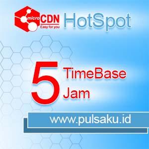 Voucher Hotspot microCDN Hotspot - TimeBase 5 Jam