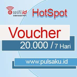 Voucher Hotspot WIFI.ID - 20.000